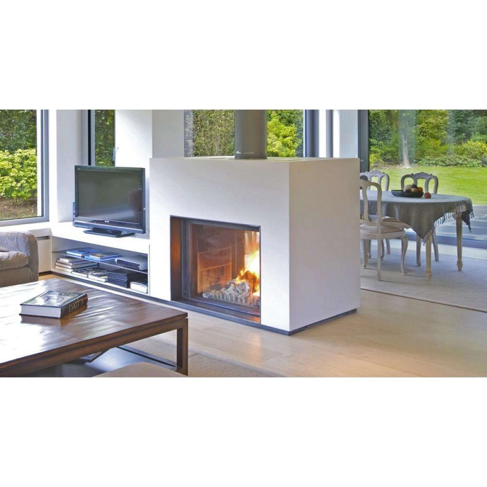 lareira a lenha stuv serie 21 dupla face pedra e decora o. Black Bedroom Furniture Sets. Home Design Ideas