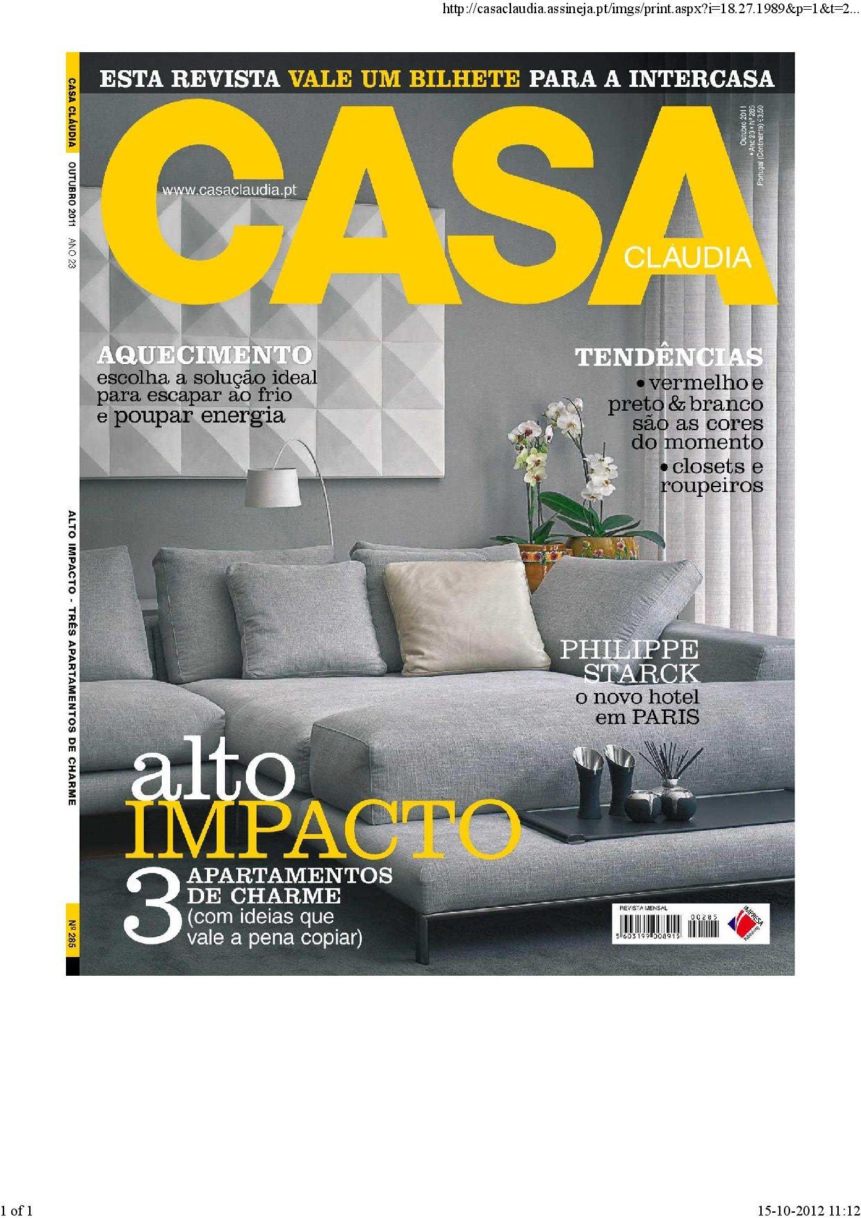 Revista Casa Cláudia 2011 – Outubro